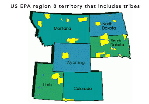 EPA regional areas within the US