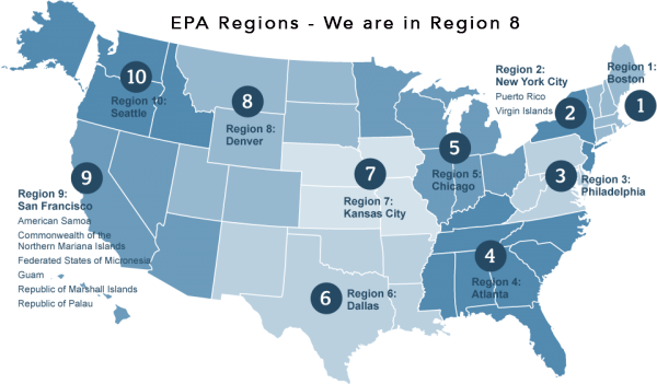 EPA Region 8 that includes Tribes